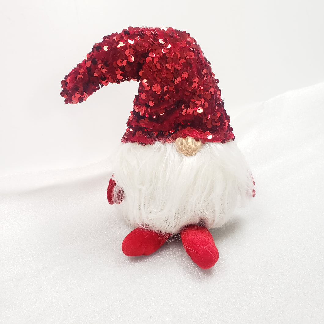 Small Red Sequin Hat Christmas Gnome