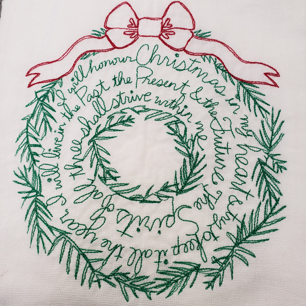 Christmas Wreath Tea Towel NUF54