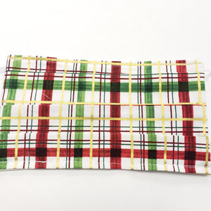 Christmas Plaid Pattern Face Mask NUF49