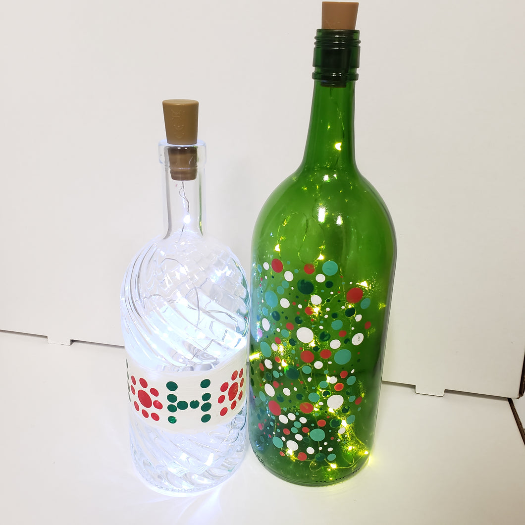 Handpainted Light Up Bottle
