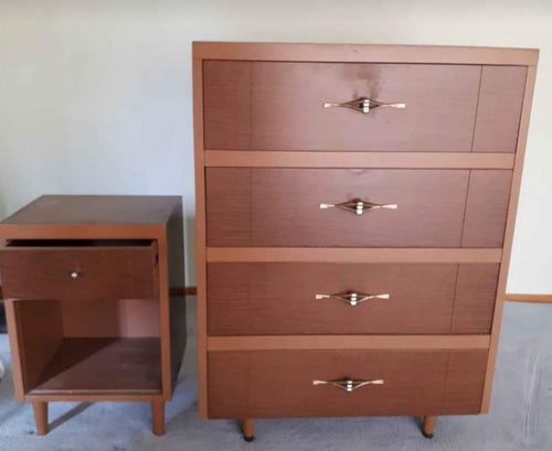 Mid Century Modern Style MCM Night Stand