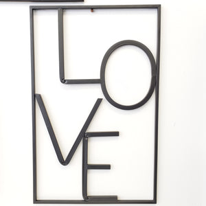 Love Metal Wall Sign