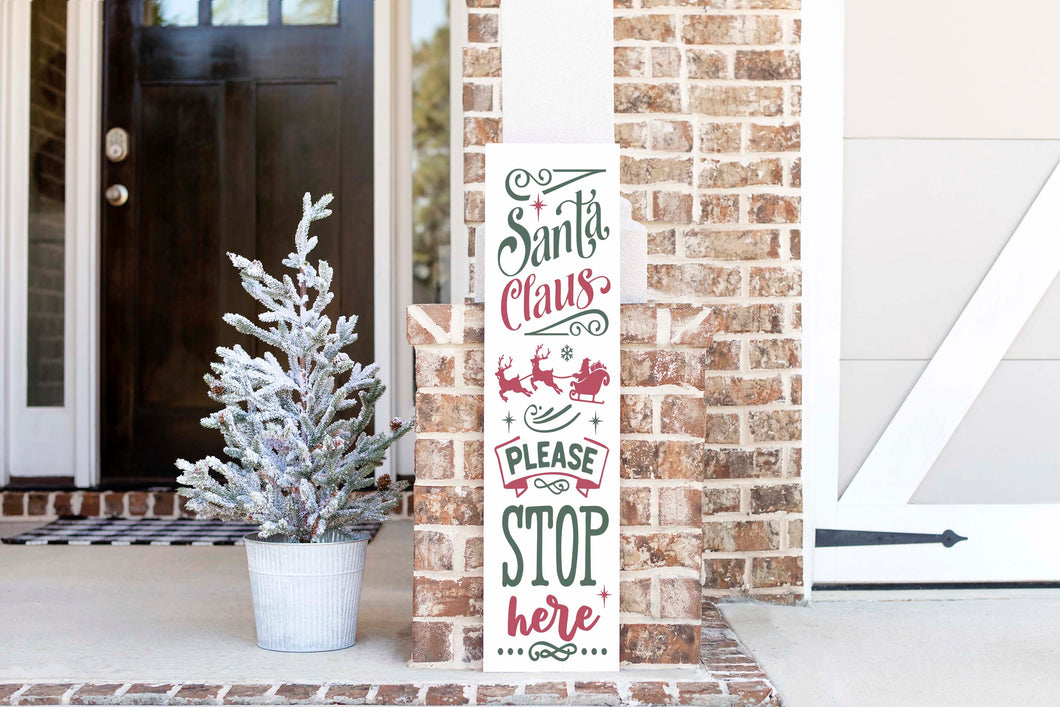 DIY KIT - Christmas Porch Sign Santa Stop Here