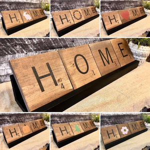 DIY KIT - Scrabble Tile Home Sign