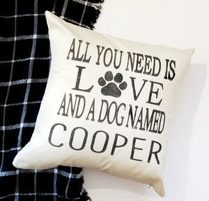 Custom Pet Name Pillow