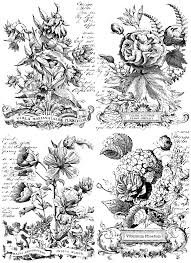 Classic Bouquets Paintable IOD Image Transfer (24