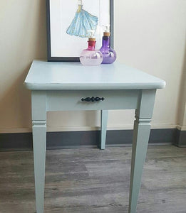 Side Table in Little Whale by Fusion Mineral Paint