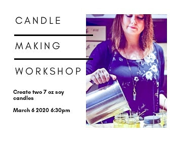 Oakville April 3 6:30pm Candle Making Workshop