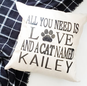 Custom Cat Name Pillow