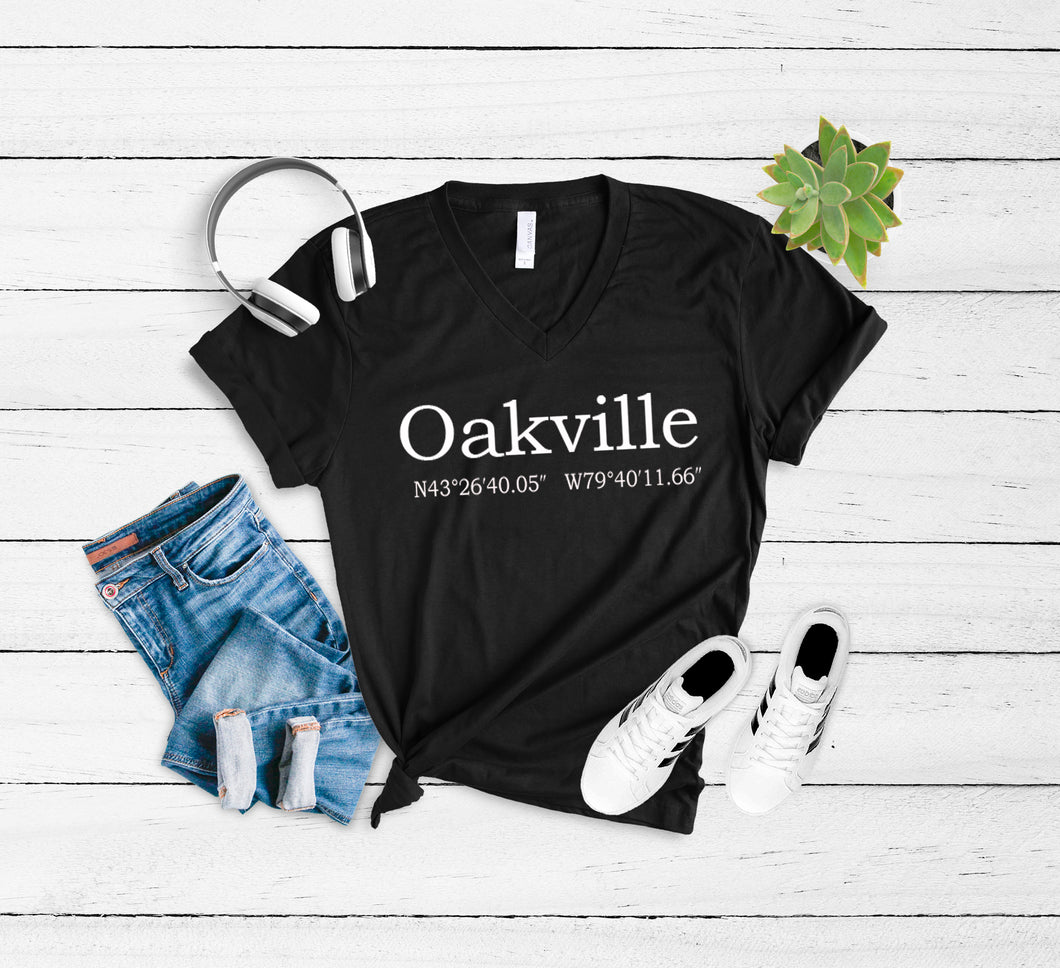 Oakville Coordinates T-Shirt - Or Customize with your own City