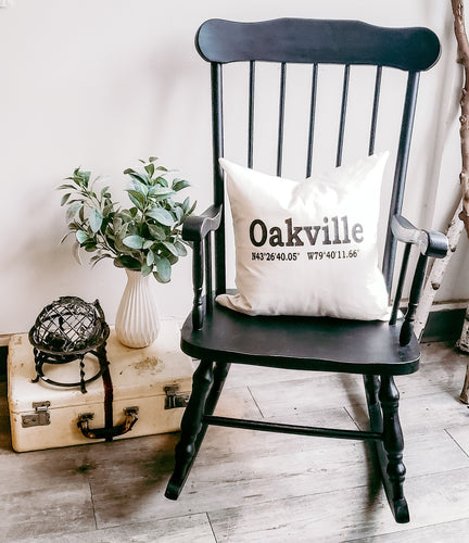 Rocking Chair in Coal Black by Fusion Mineral Paint