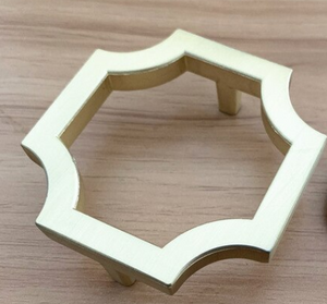 Brushed Gold Multi Side Hexagon Knob for Furniture