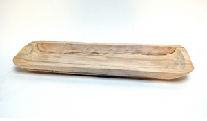 Wooden Dough Bowl Long Rectangle 2 Sizes