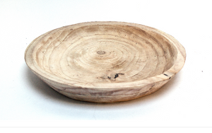 Wooden Round Dough Bowl Style  Natural Finish