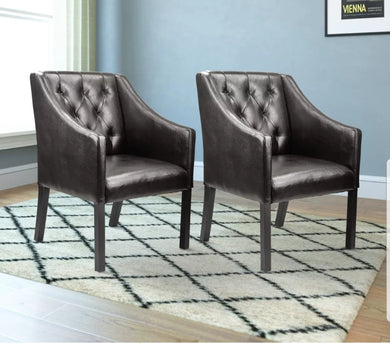 Vanderhoff Armchairs Set of 2 Upholstered Side Chair / Accent Chair