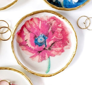 Poppy-  Resin Ring Dish