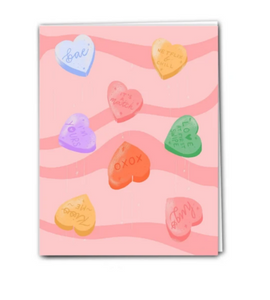 Love Hearts Valentine's Day Birthday Card