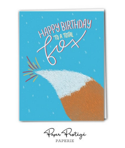 Happy Birthday to a Total Fox Birthday Card