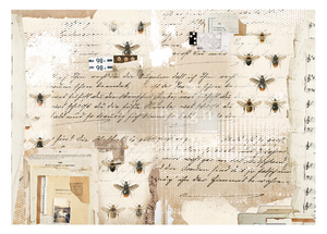 Mysterious Notes- Redesign with Prima Decor Decoupage Rice Paper
