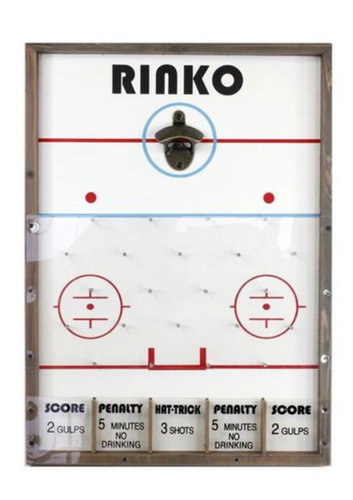 Rinko Wood Game Board with Bottle Opener