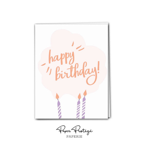Candles Happy Birthday Card PRO8