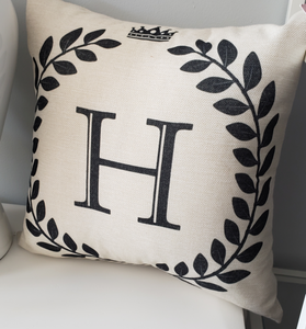 Monogram Cushion Decorative Pillow
