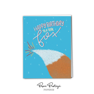 Fox Happy Birthday Card PRO35