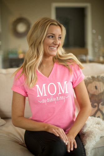 Mother's Day Mom Shirt wth Children's Names