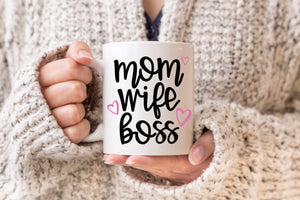 Mom Wife Boss Mug