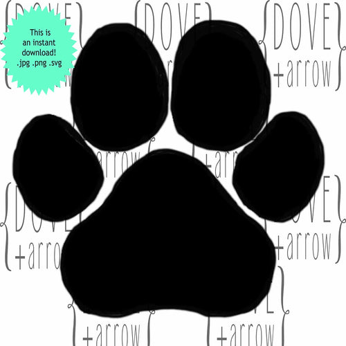 Paw Print SVG Cut Files PNG Image Pawprints Dog Paw Cat Paw Cut File for Silhouette Cricut Cutting pillow mug sign making Dollar Deal