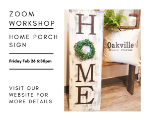 Zoom Virtual Workshop - HOME Porch Sign Friday Feb 26 6:30pm