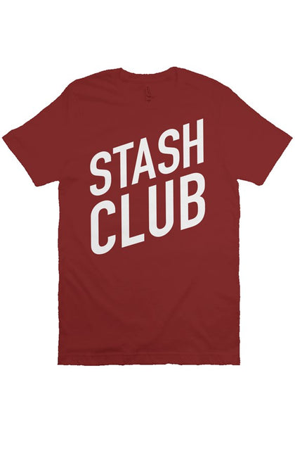 Retro Stash Tee - Cardinal & White