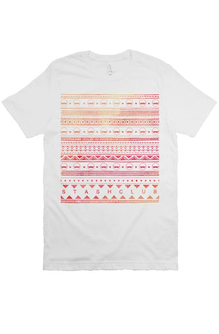 Stash Tribal Tee -White