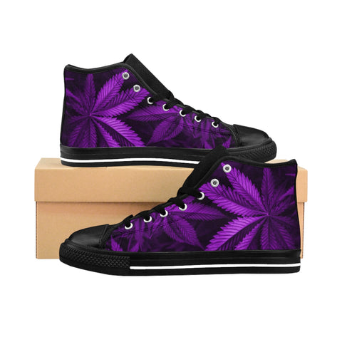 Purple Kush High-top Sneakers