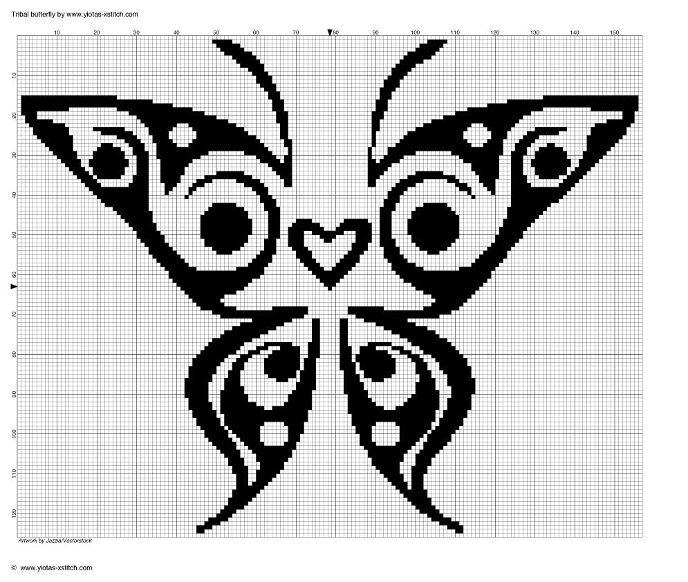 Butterfly Free cross stitch pattern