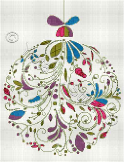 Abstract Christmas ball counted cross stitch kit