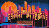 Abstract cityscape counted cross stitch kit