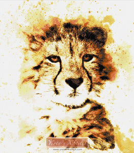 Abstract leopard counted cross stitch kit