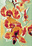 Abstract orchids counted cross stitch kit