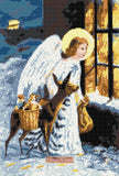 Angel with deer No2 counted cross stitch kit