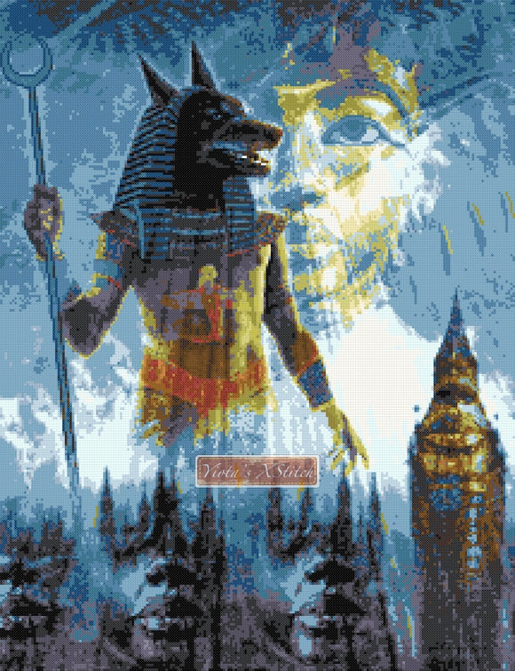 Anubis counted cross stitch kit