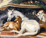 Arab tent horse by Edwin Landseer counted cross stitch kit