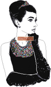 Audrey Hepburn cross stitch kit