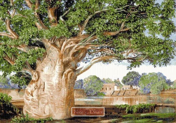 Baobab tree counted cross stitch kit