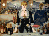 Bar at the Folies-Bergere Manet counted cross stitch kit