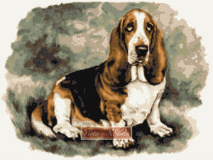 Basset Hound No3 counted cross stitch kit