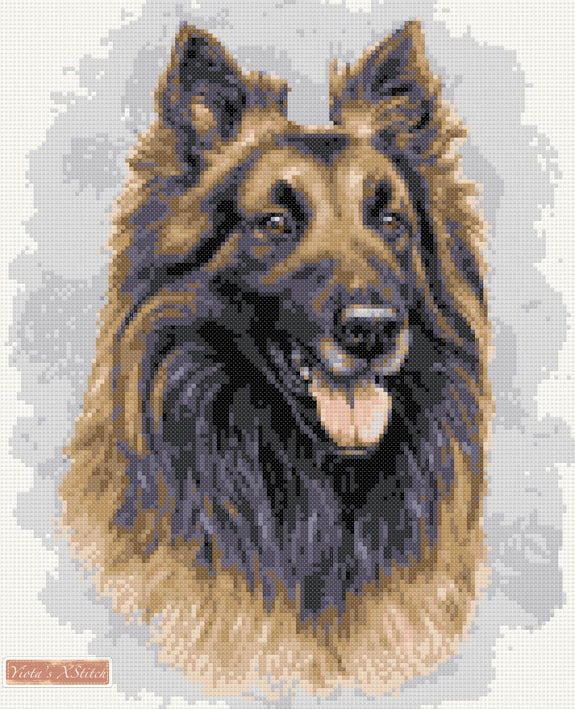 Belgian shepherd counted cross stitch kit