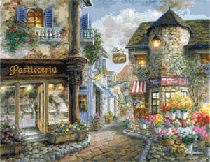 Bello Piazza counted cross stitch kit
