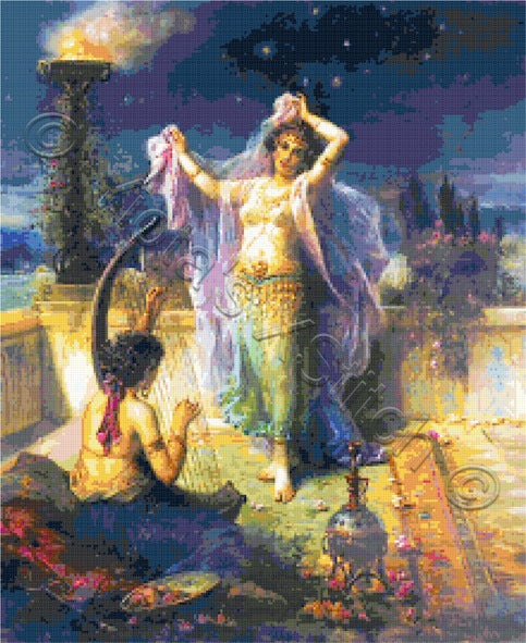 Belly dance counted cross stitch kit
