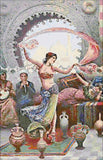 Belly dance counted cross stitch kit.